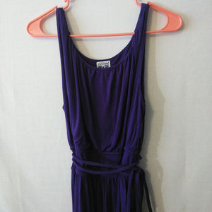 Converse Dress Womens Large Purple Sleeveless Tie